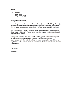 Services Cancellation Letter Final Directive